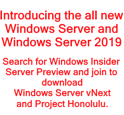 Windows Insider Preview Server 2019